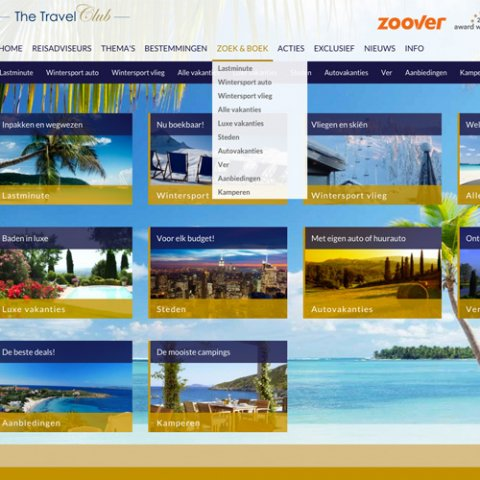 Webdesign & CMS door Scriptus Design voor The Travel Club