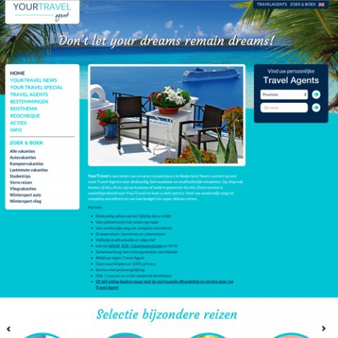 Webdesign door Scriptus Design voor YourTravel