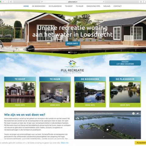 Pijl Recreatie websdesign en CMS door Scriptus Design